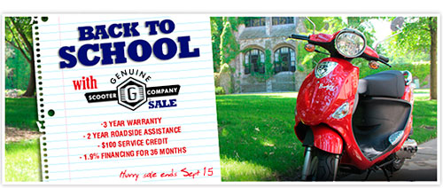 Genuine Scooter Back to School Sale
