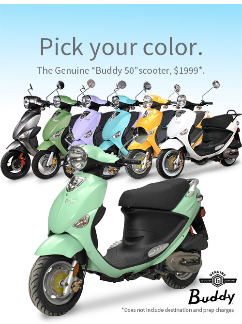 The Colorful Buddy Scooters
