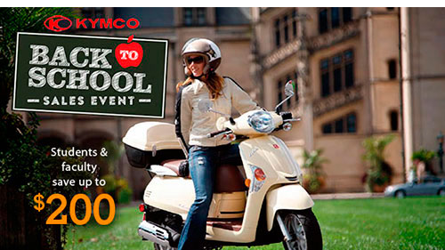 Up To $200 off KYMCOs for Students